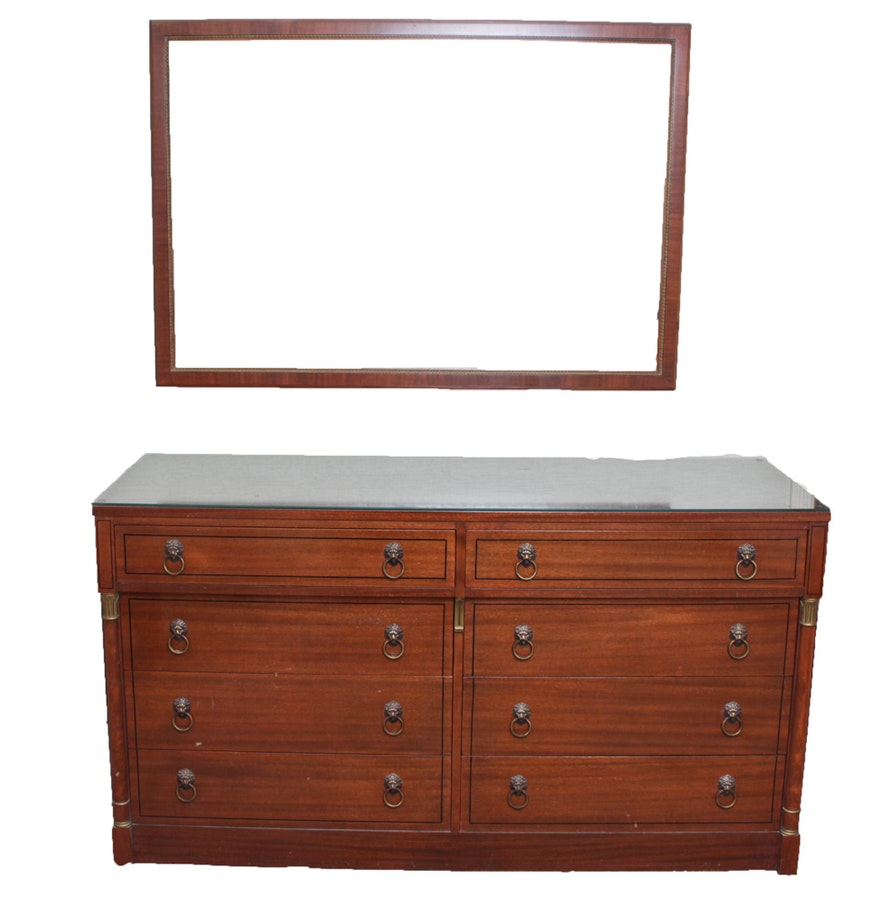 Vintage bird s eye maple wood dresser and mirror by rway
