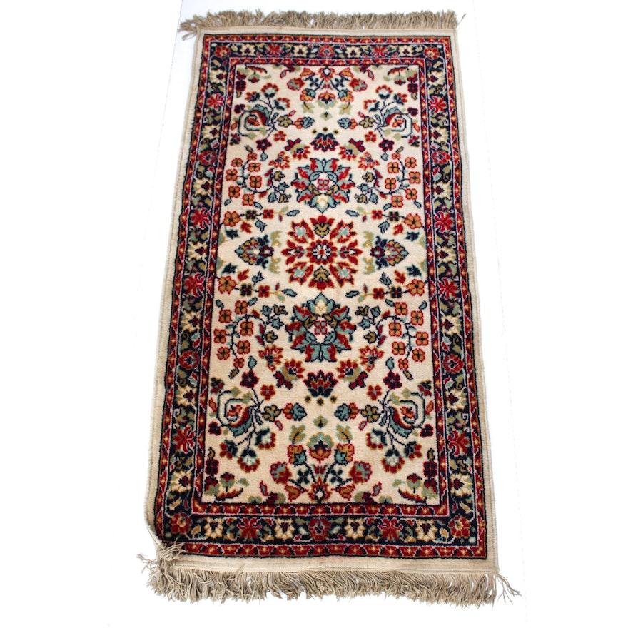 Persian Style Wool Area Rug Ebth: Machine Woven Courtraix Wool Persian-Style Carpet Runner