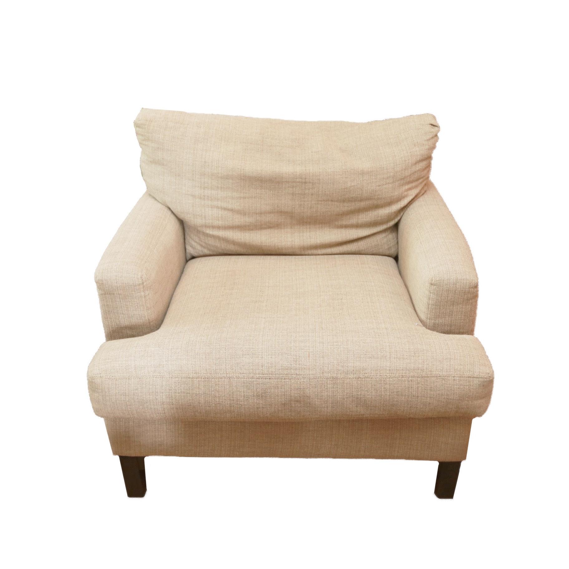 Beige Upholstered Armchair