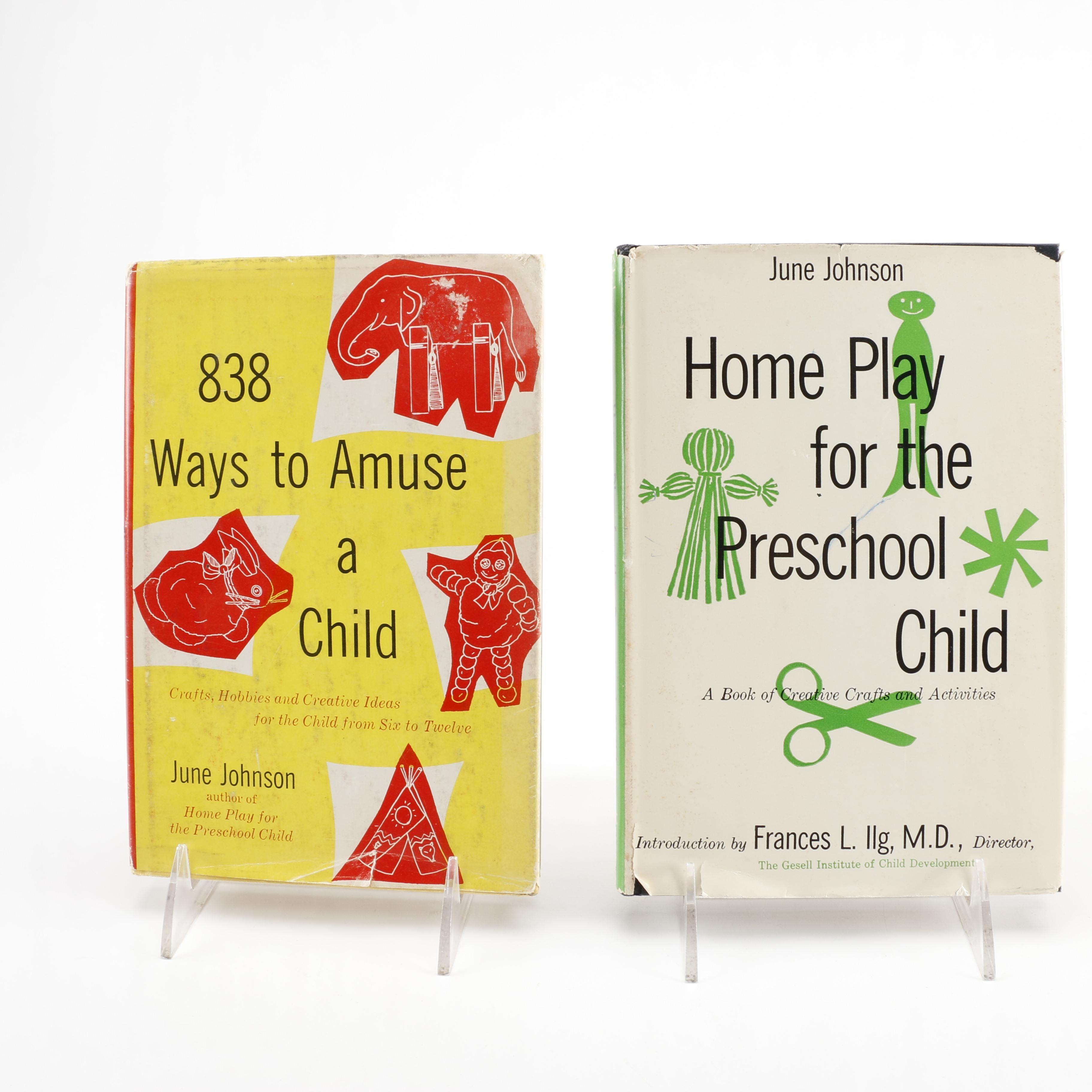 Pair of June Johnson Children's Activities Books