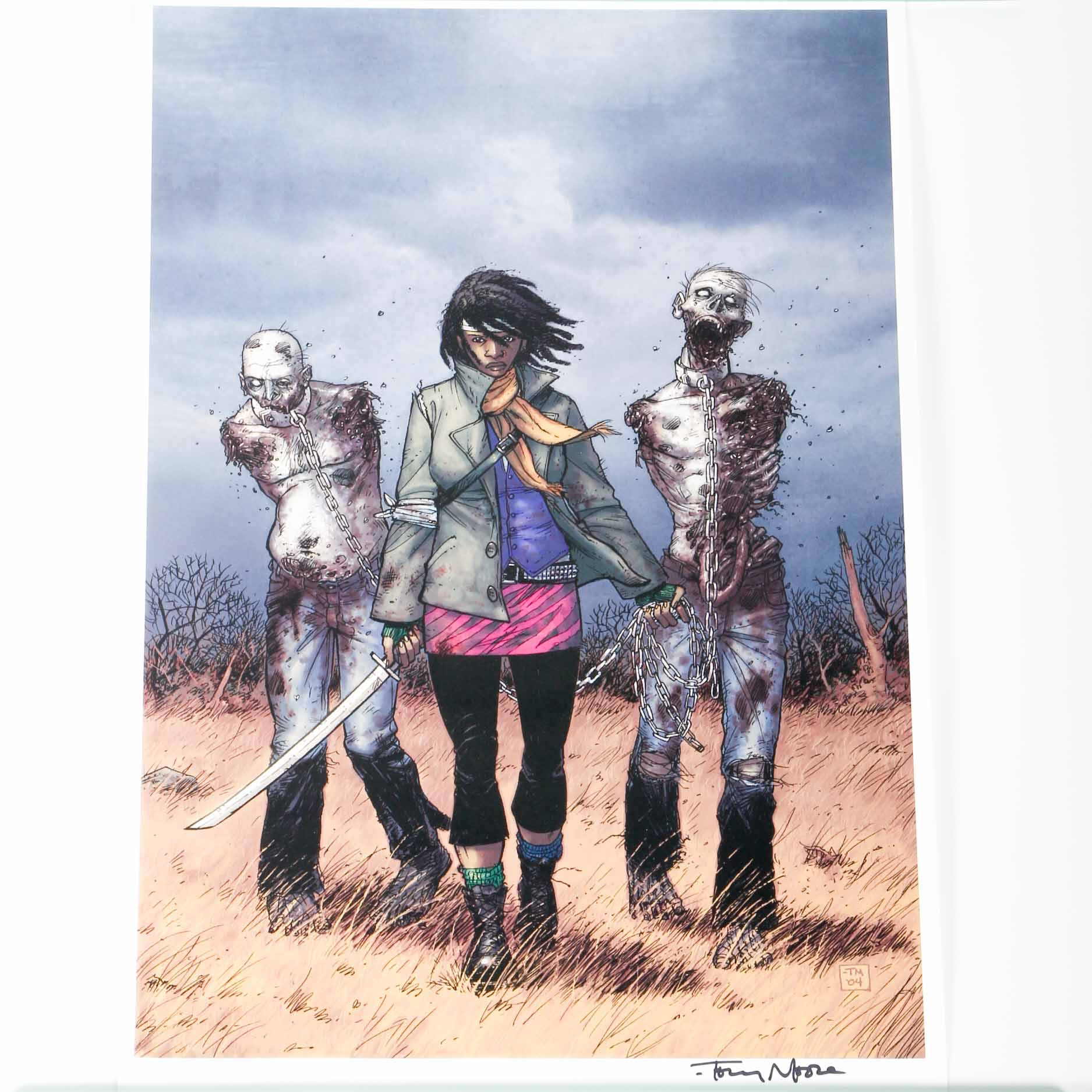"Offset Lithograph From ""The Walking Dead"" Comics Signed By Tony Moore"