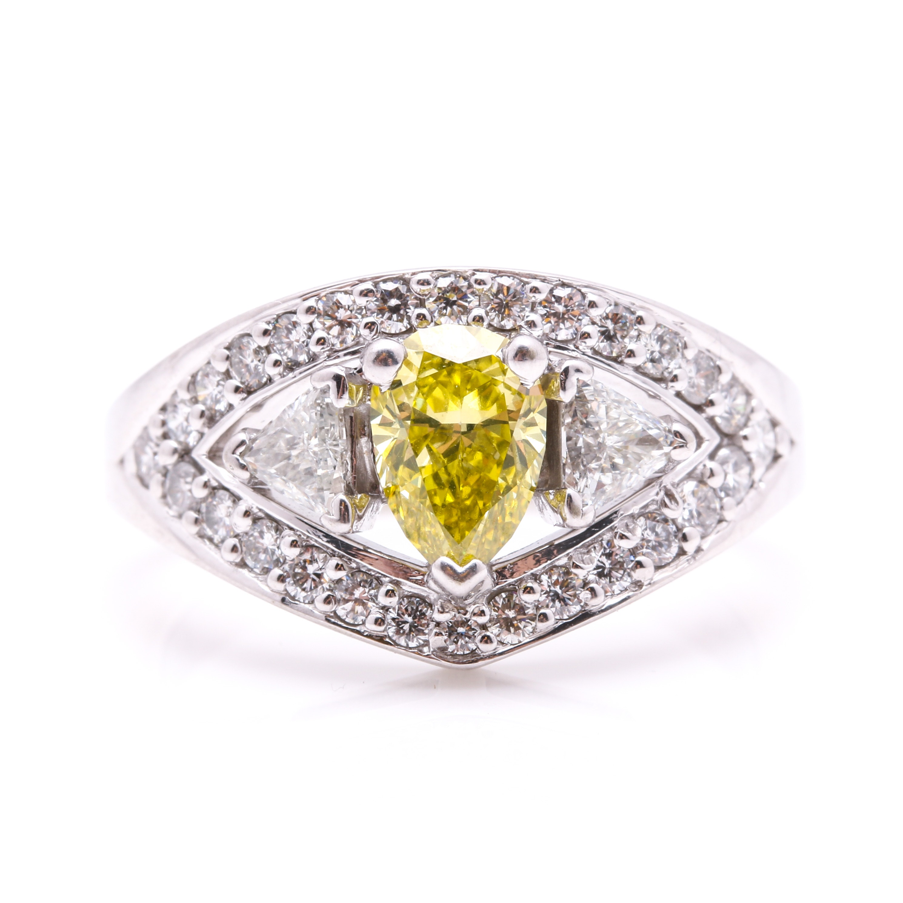 14K White Gold 1.53 CTW Diamond Ring