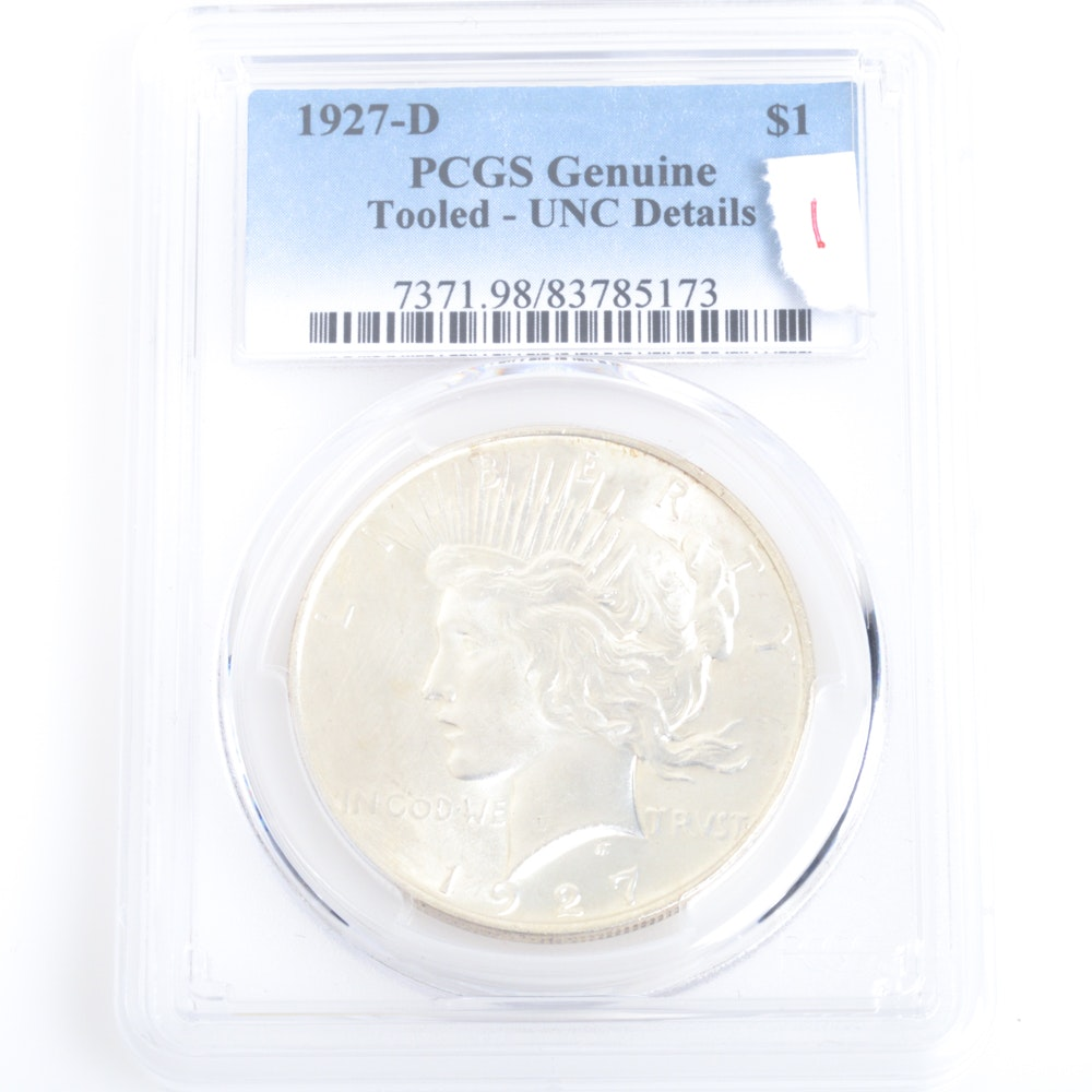 1927-D PCGS Graded Peace Dollar