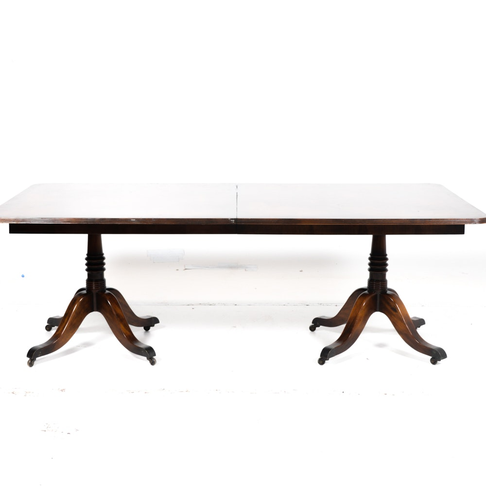 """Theodore Alexander """"The Regent's"""" Dining Table in Mahogany"""