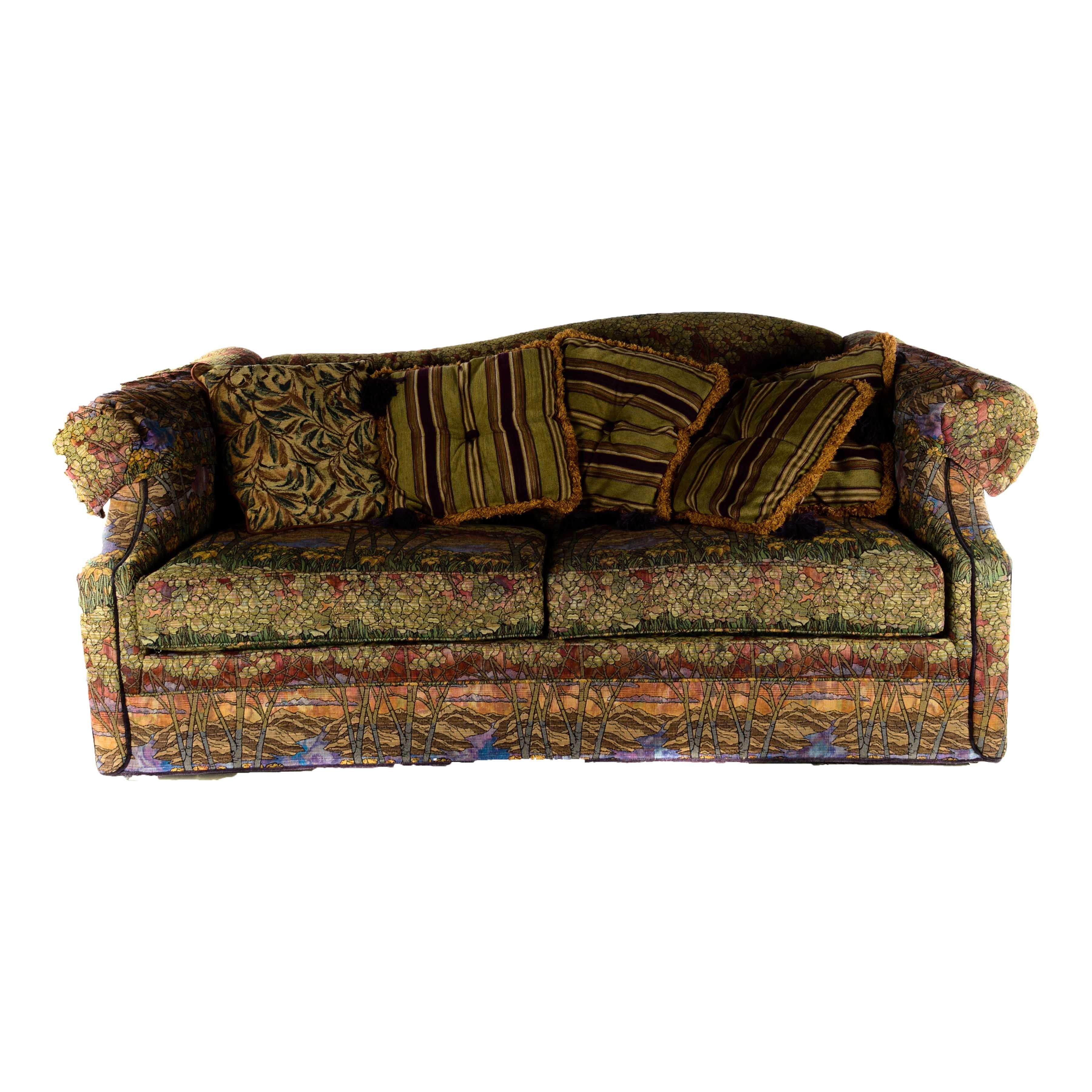 Contemporary Tiffany Glass Inspired Sofa By Woodmark ...