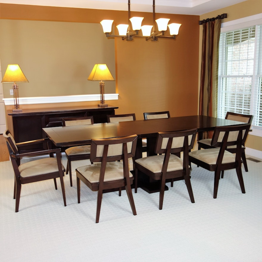 Bancroft Dining Table And Eight Chairs By Brownstone Furniture Ebth