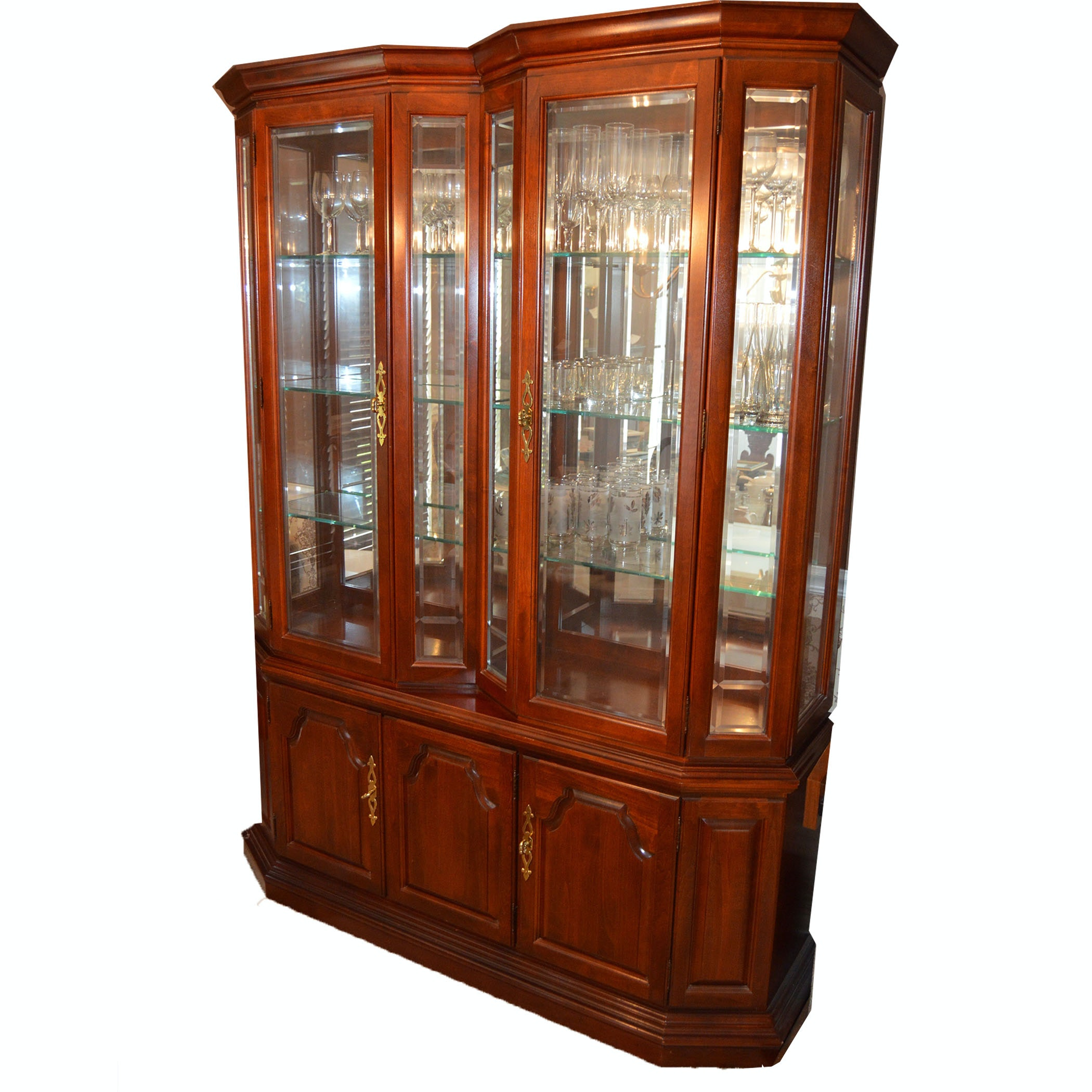 Cherry and Glass China Cabinet
