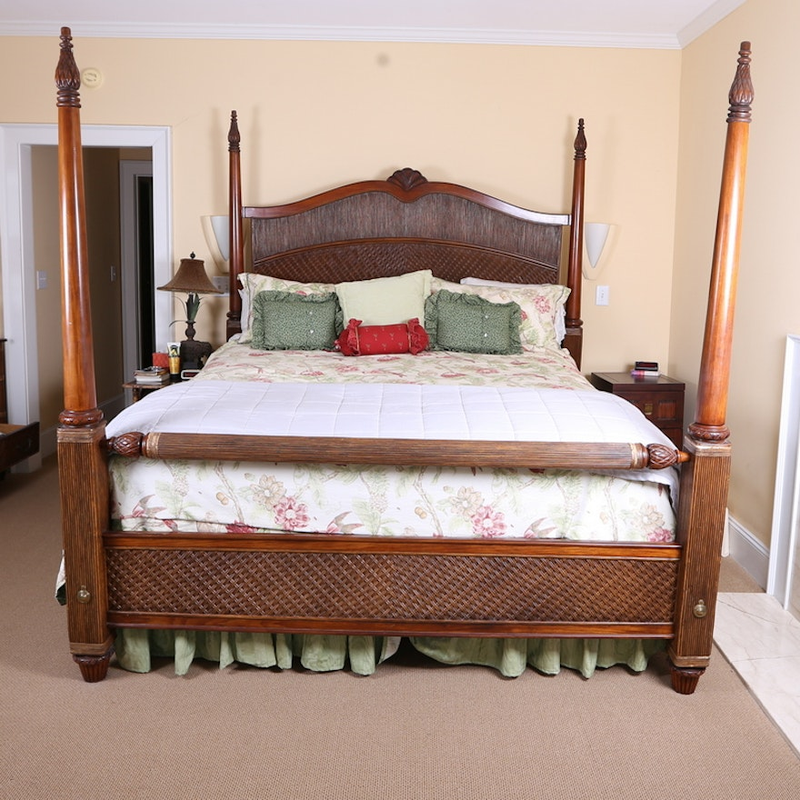 Queen Anne Inspired King Size Four Poster Bed Ebth