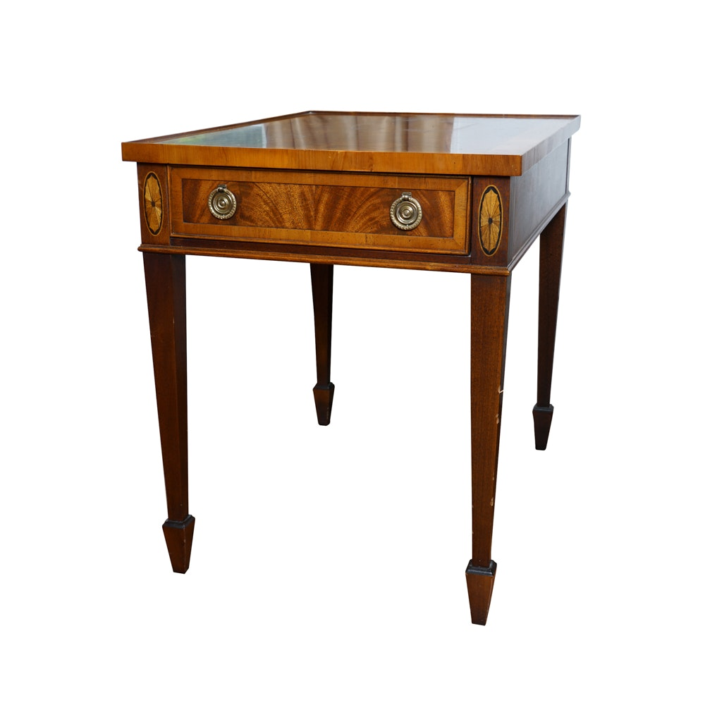 Vintage Hepplewhite Style Mahogany End Table by Hekman