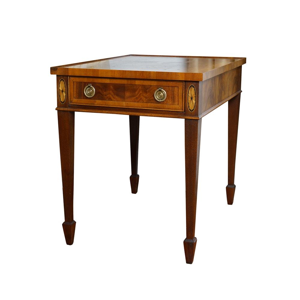 Inlaid Hekman Hepplewhite Style End Table