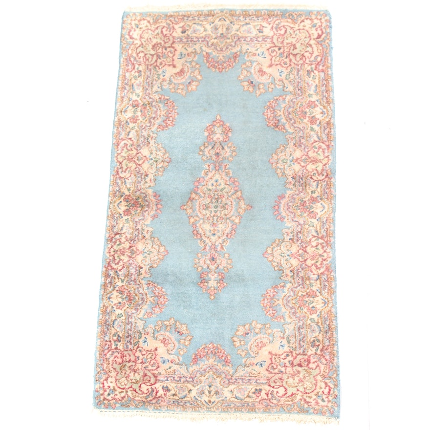 """Hand Knotted Indo Persian Obeetee Wool Area Rug Ebth: 2'6"""" X 5'0"""" Semi-Antique Hand-Knotted Persian Kerman"""