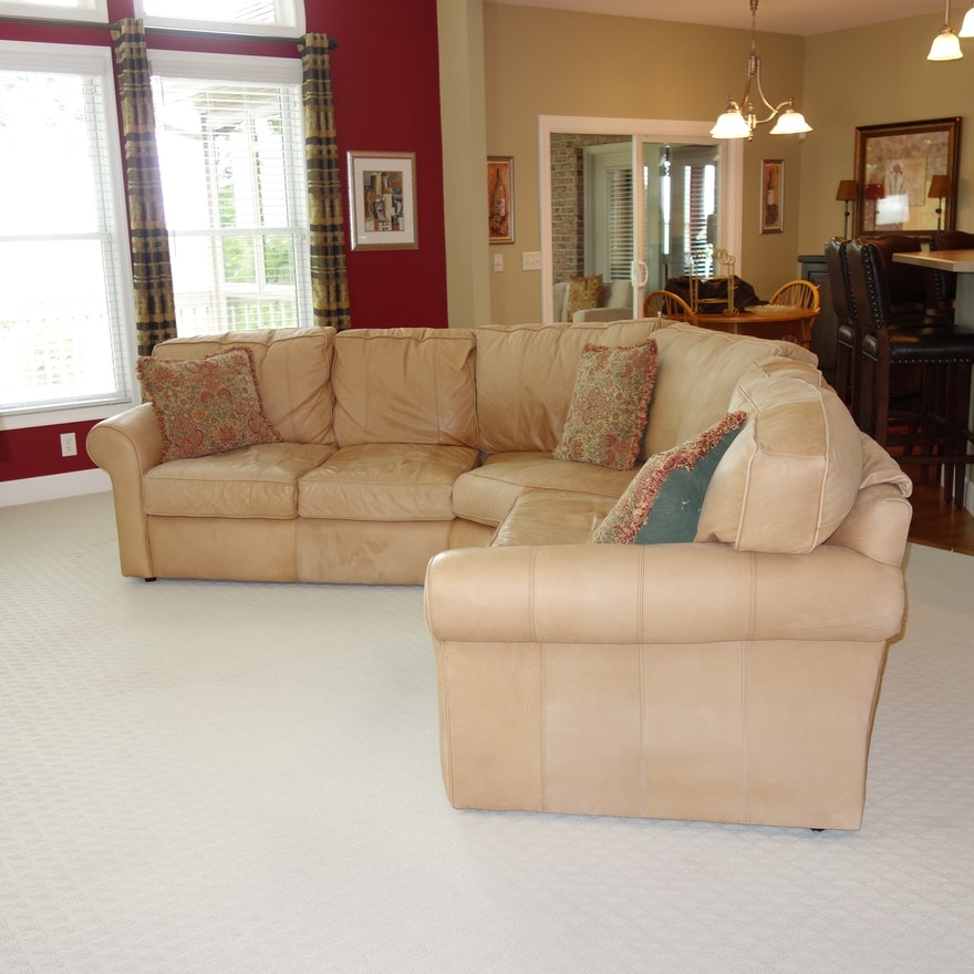 Hadley Leather Sectional Sofa By Arhaus Furniture