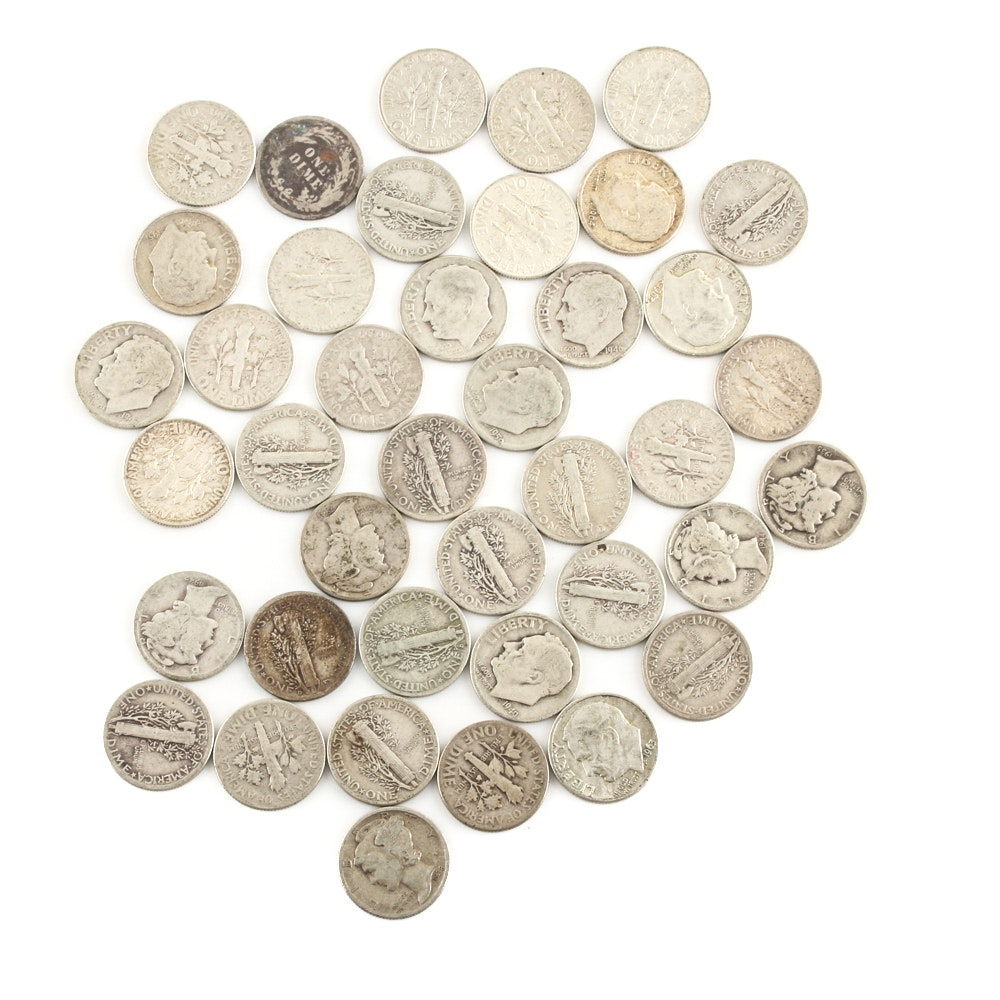 Forty U.S. Silver Dimes