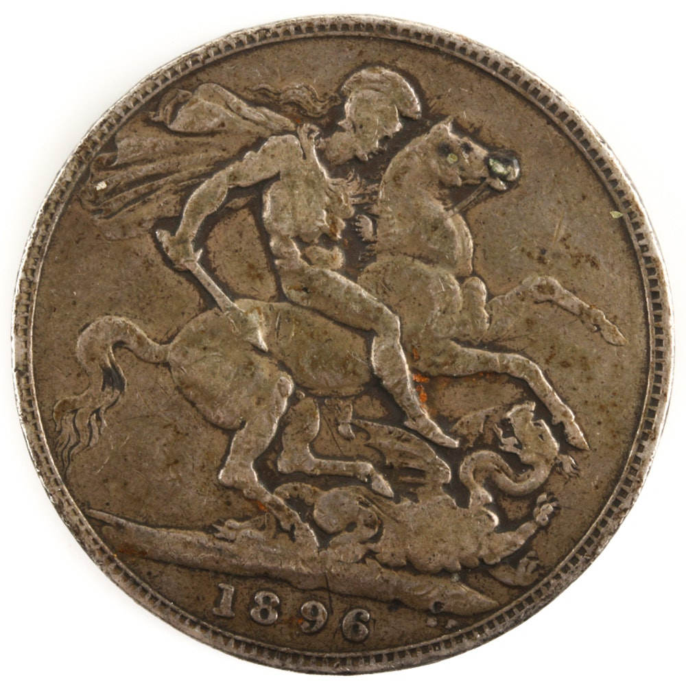 1896 British Silver Crown
