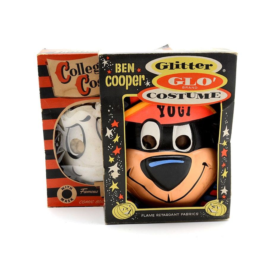 Circa 1950s Yogi Bear and Casper Halloween Costume Masks : EBTH