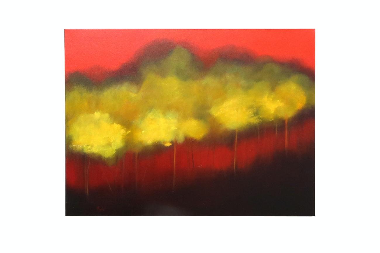 "Bonita Original Oil Painting On Canvas ""Warm Breeze"""
