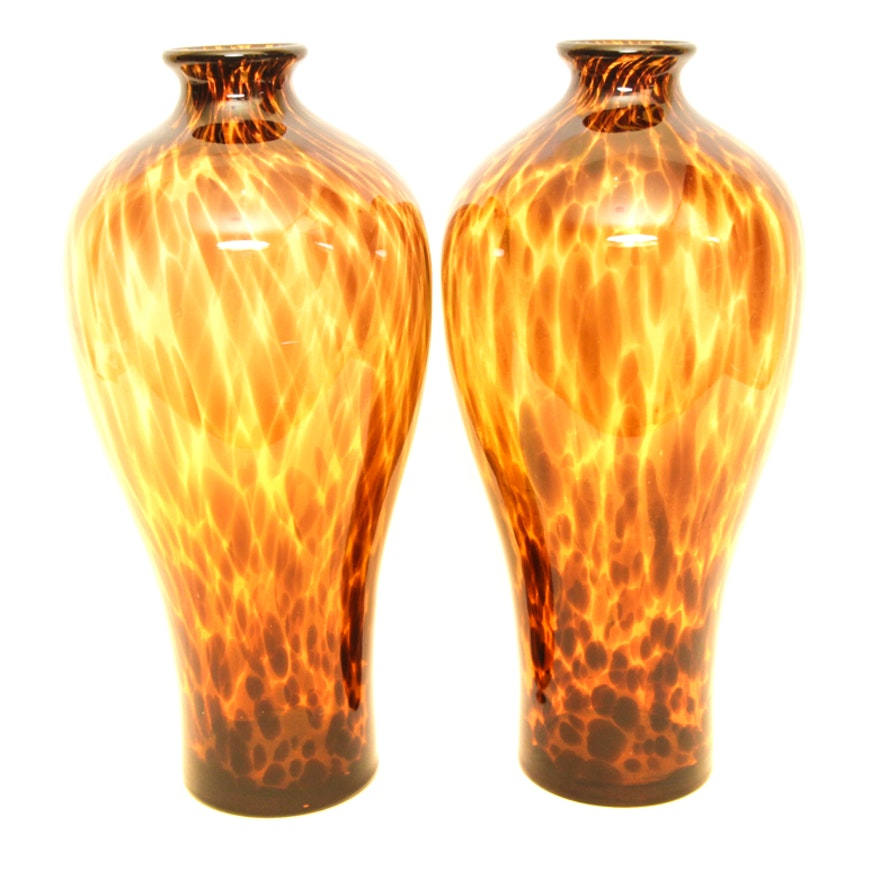 Glass Vases With Leopard Print Ebth