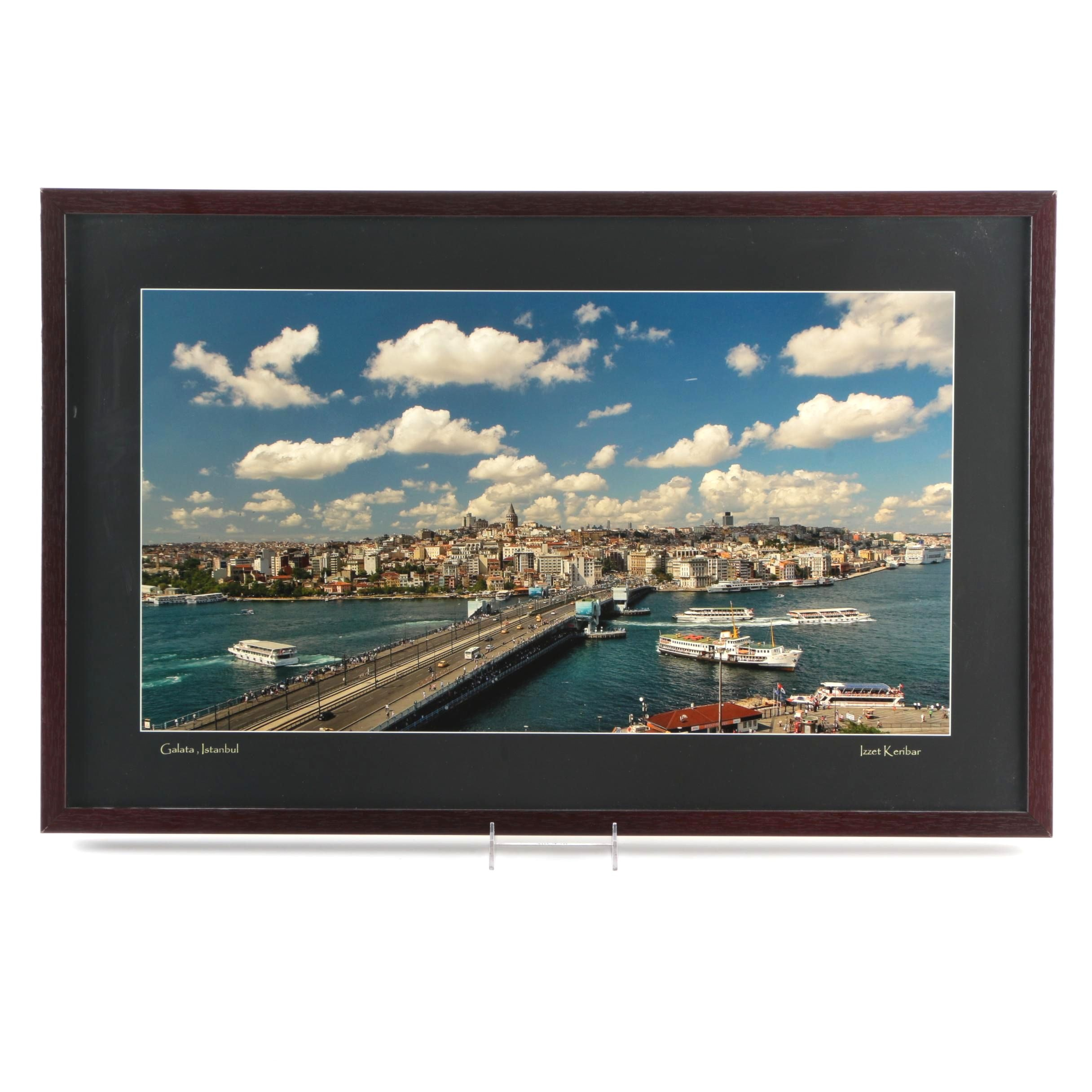 "Izzet Keribar Giclee Print of Photograph ""Galata, Istanbul"""