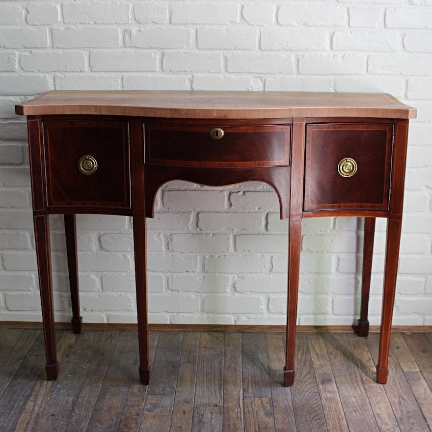 antique petite hepplewhite style mahogany sideboard ebth. Black Bedroom Furniture Sets. Home Design Ideas