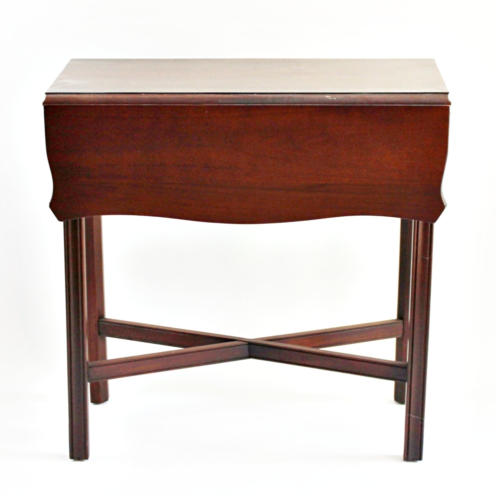 Chinese Chippendale Style Drop-Leaf Side Table