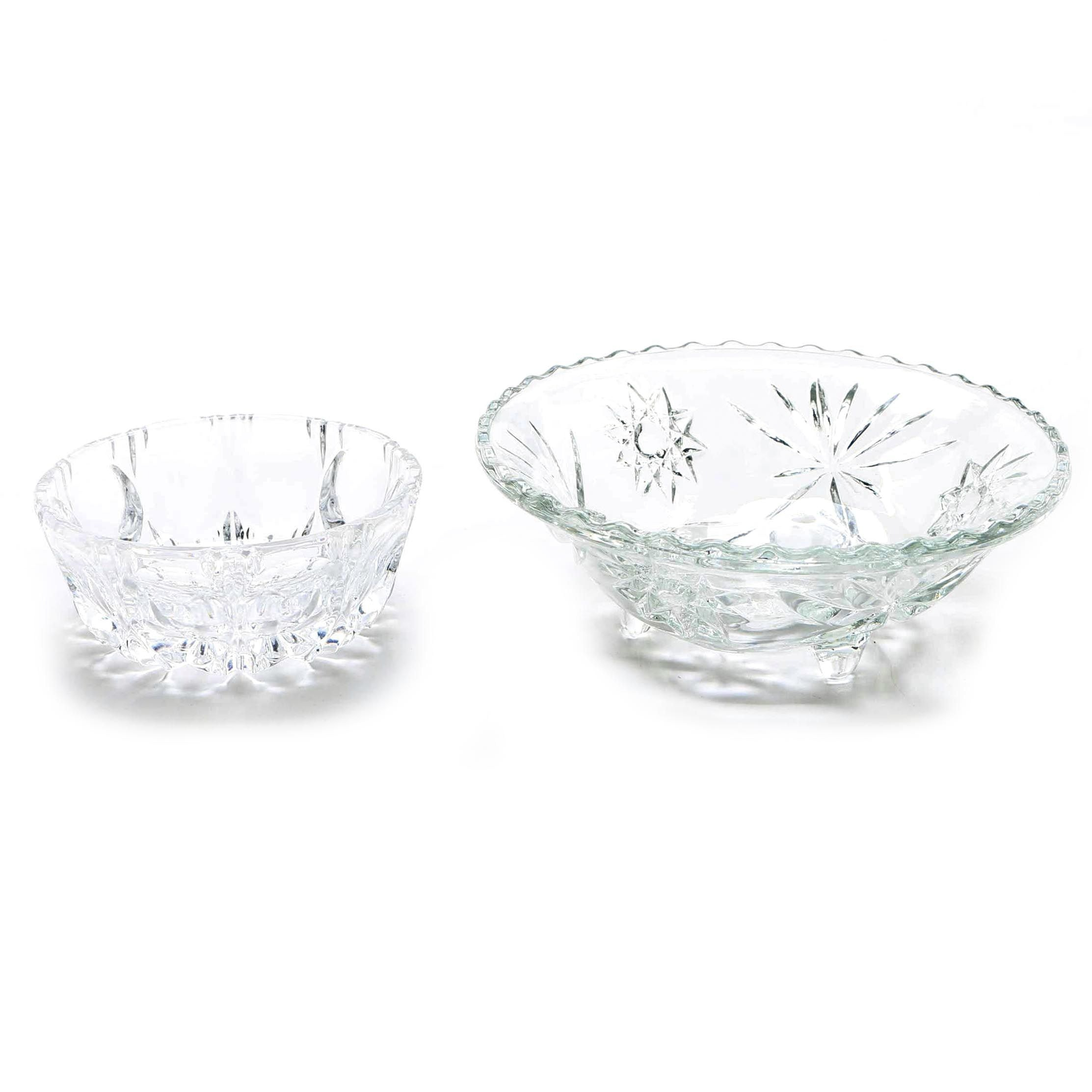 Cut Glass Bowls Featuring Anchor Hocking