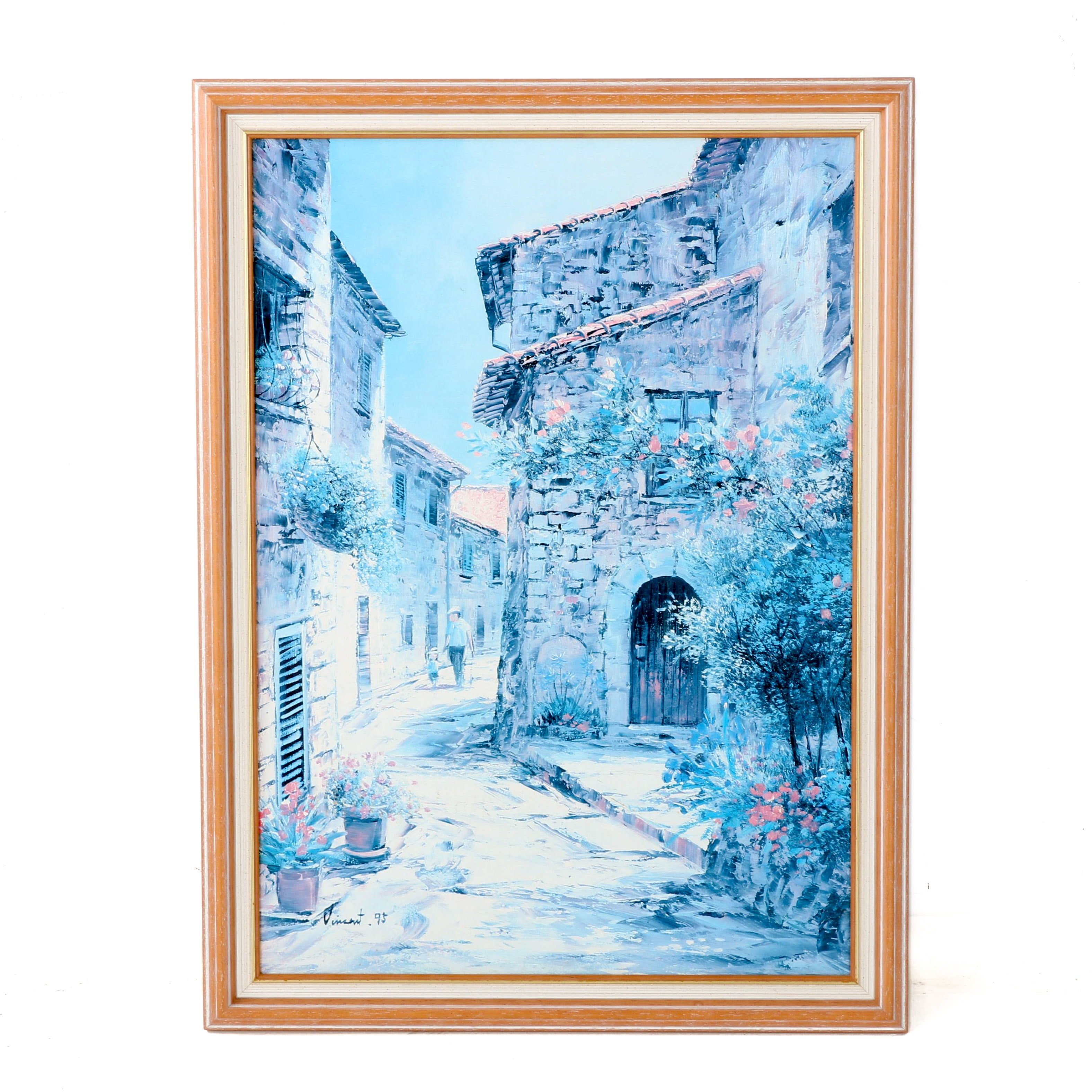 "Offset Lithograph After Vincent  ""Alley Of Provence - Country Deco"""