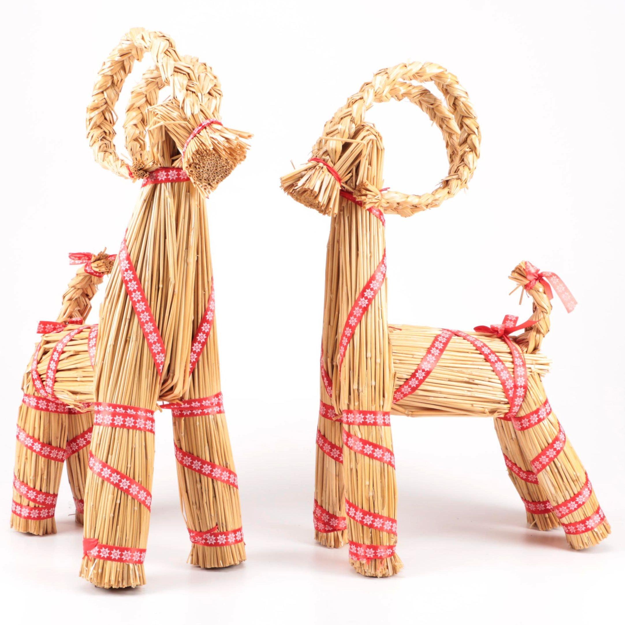 Swedish Julbock Straw Christmas Goats