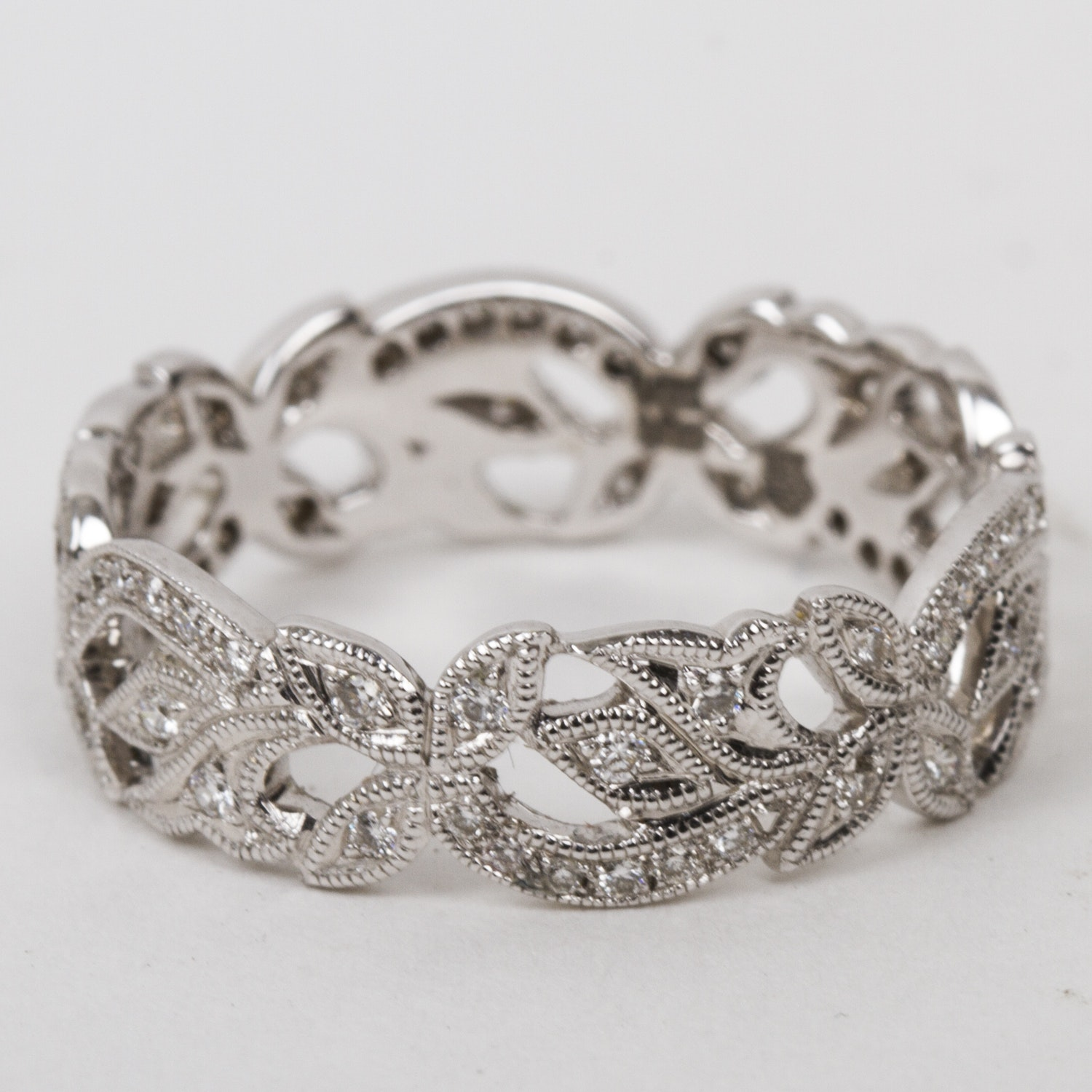 Barry Kieselstein-Cord 18K White Gold and Diamond Openwork Band