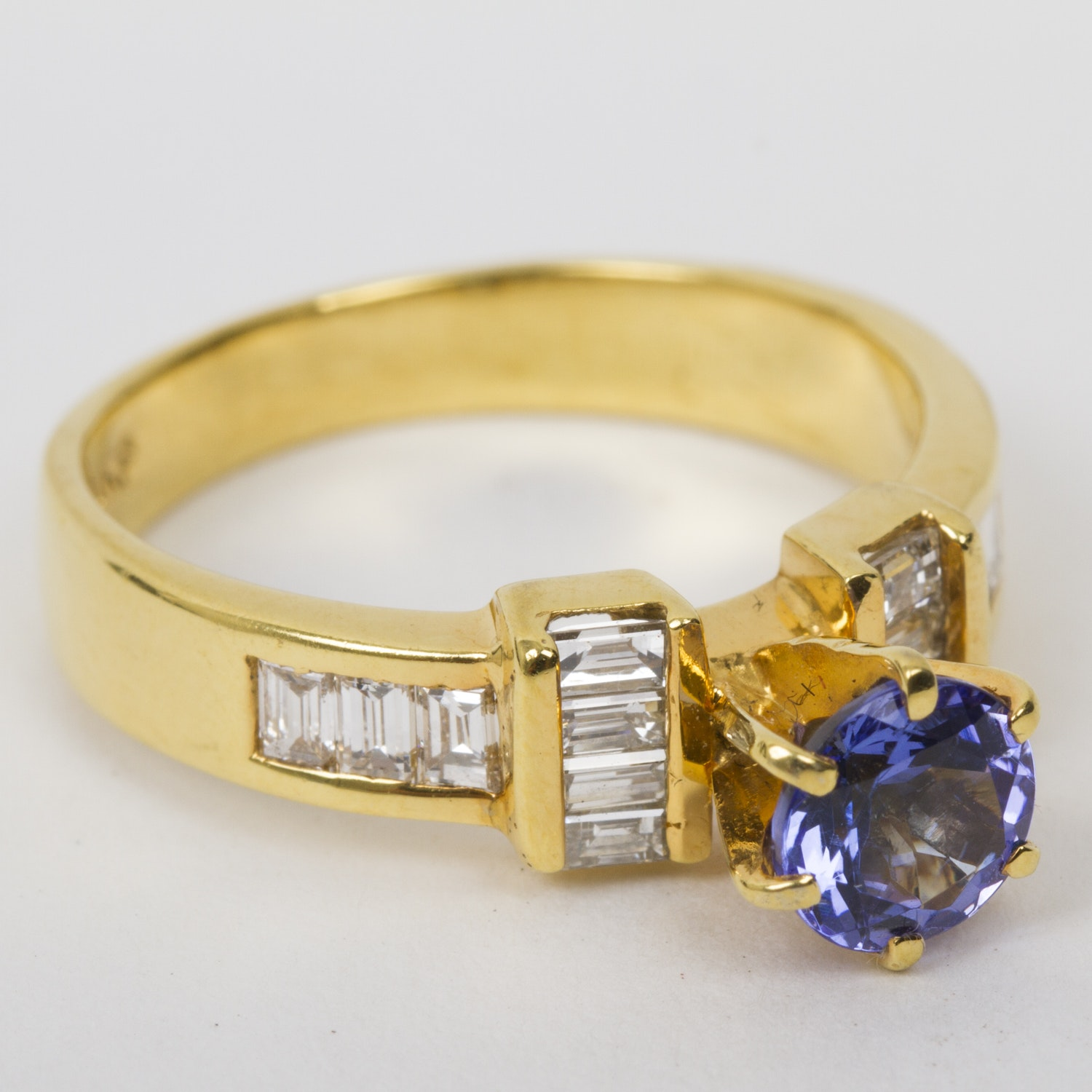 Nyman 18K Yellow Gold, Tanzanite, and Tanzanite Ring