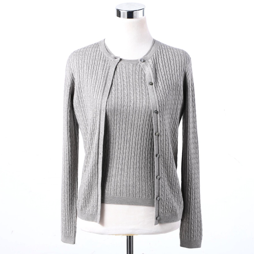 Brooks Brothers Silk and Cashmere Sweater Set : EBTH