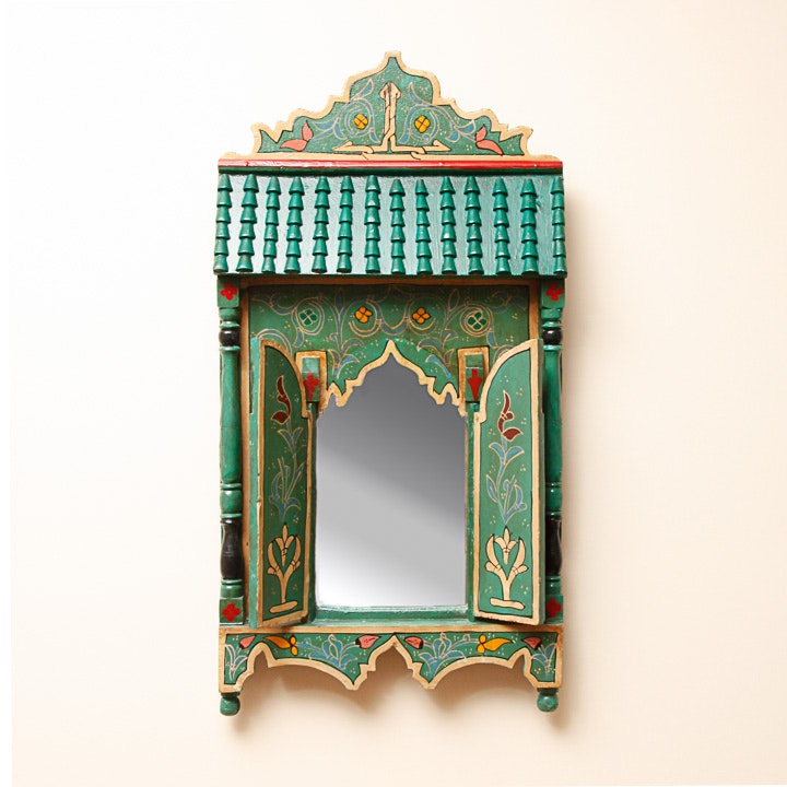 Moroccan Hand Painted Wall Mirror