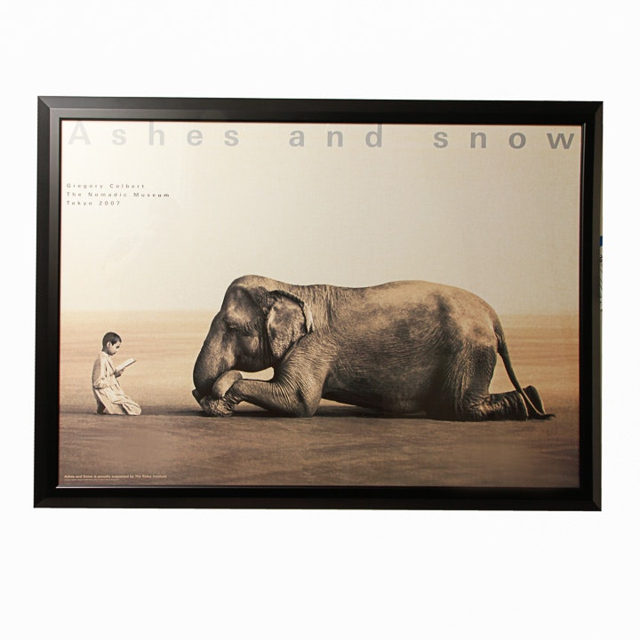 """Offset Lithograph Poster for Gregory Colbert's Project """"Ashes and Snow"""""""