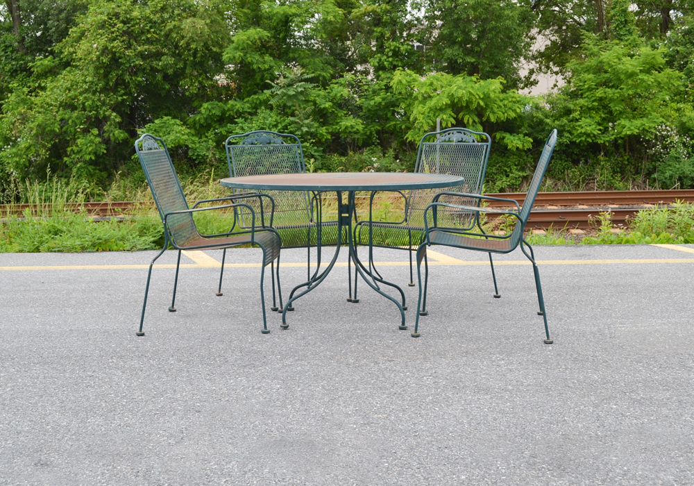 Wrought Iron Table and ChairEBTH