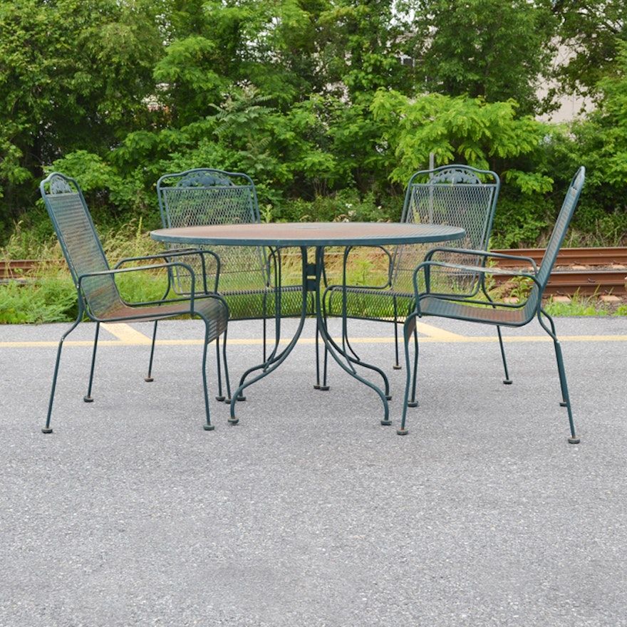 Wrought Iron Sunbeam Patio Table And Chairs