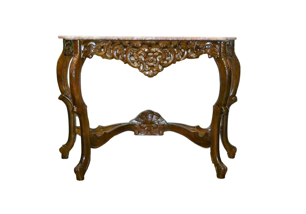 Victorian Marble Top Console Table ...