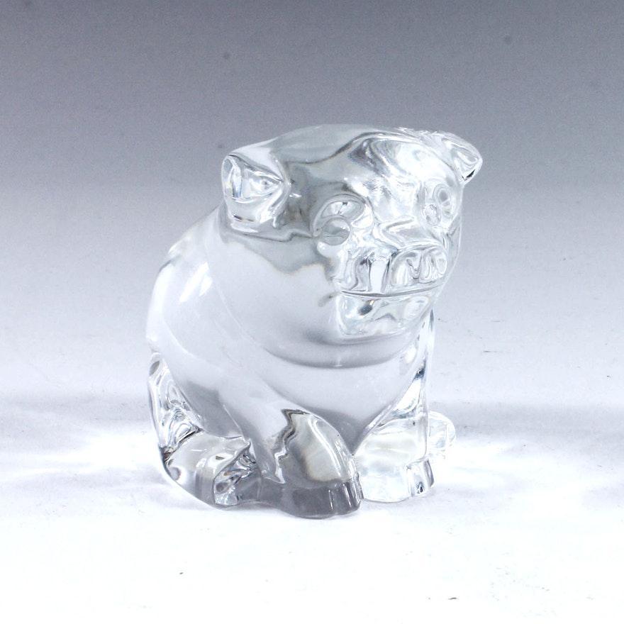 Waterford Crystal Pig Figurine Ebth