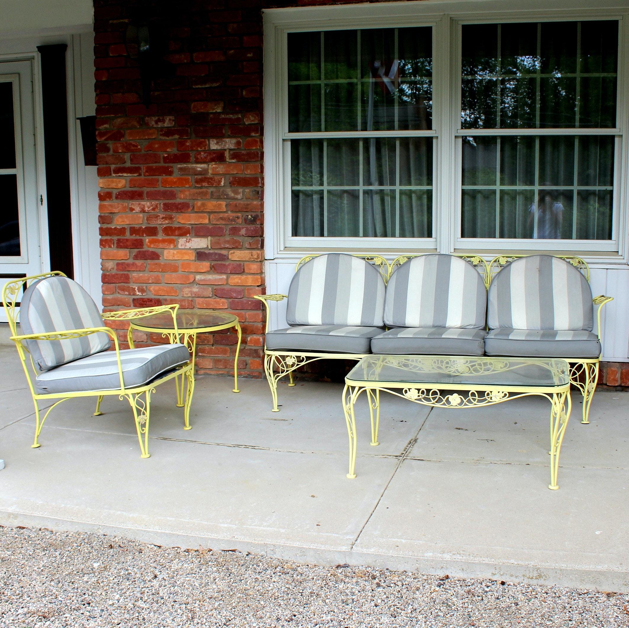 Meadowcraft Wrought Iron Patio Furniture Ebth
