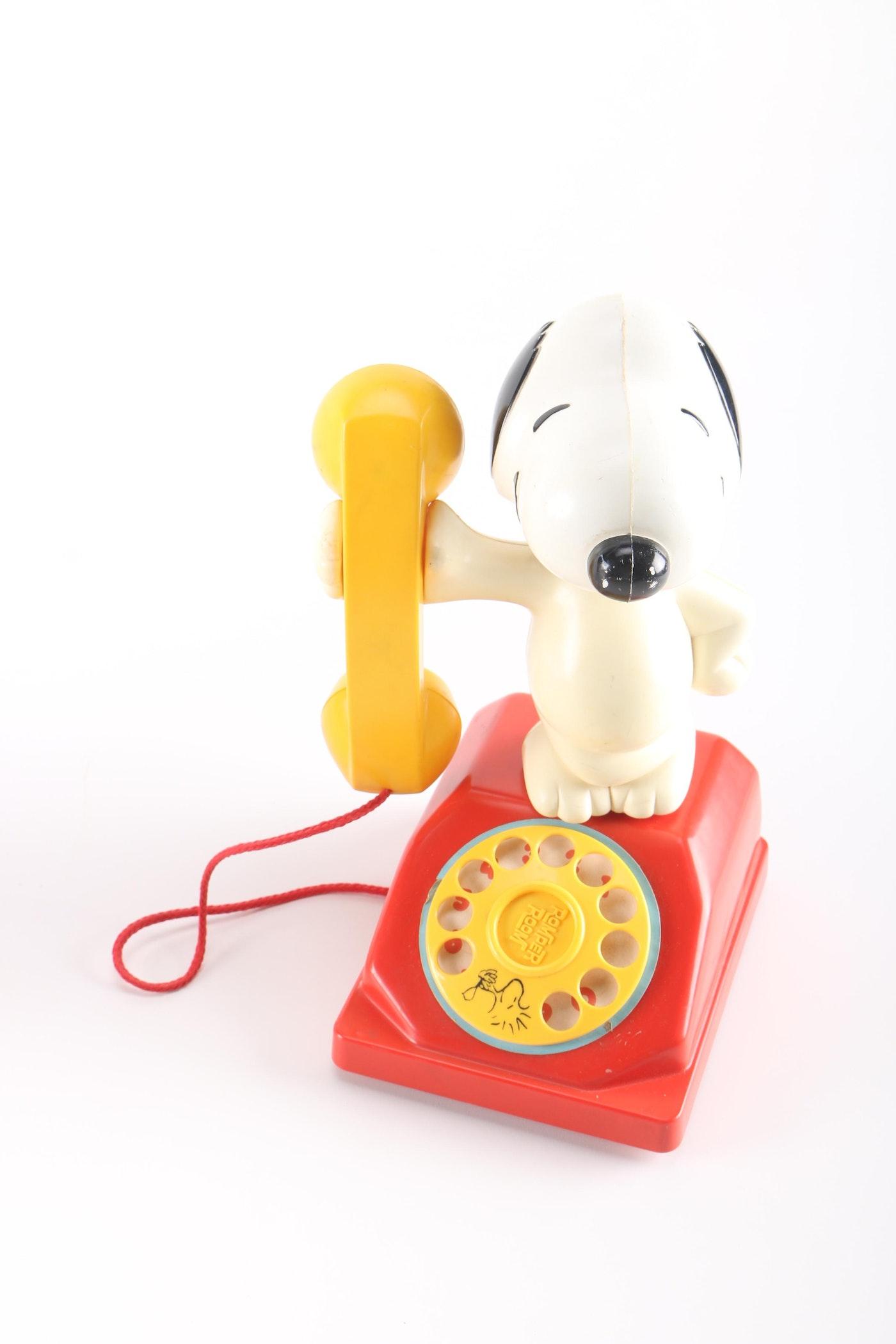 vintage snoopy telephone