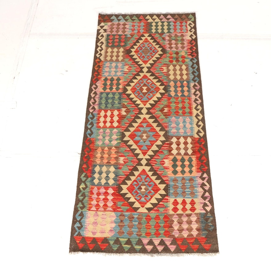 Handwoven Turkish Kilim Carpet Runner