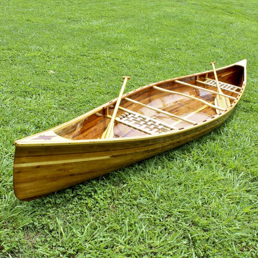 16 ft. Handmade Cedar Strip Canoe