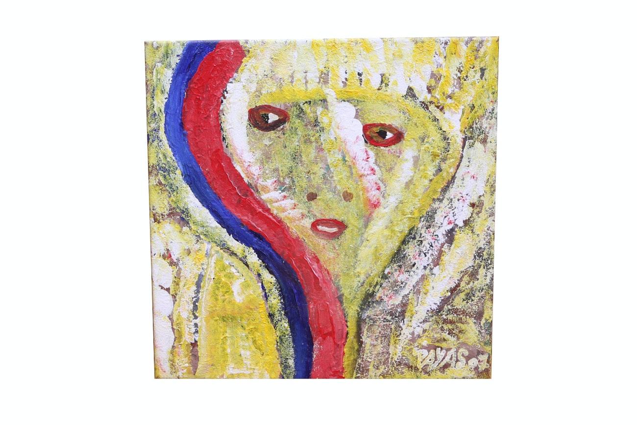 Payas (Pierre-Sylvain Augustin) Acrylic Painting On Canvas