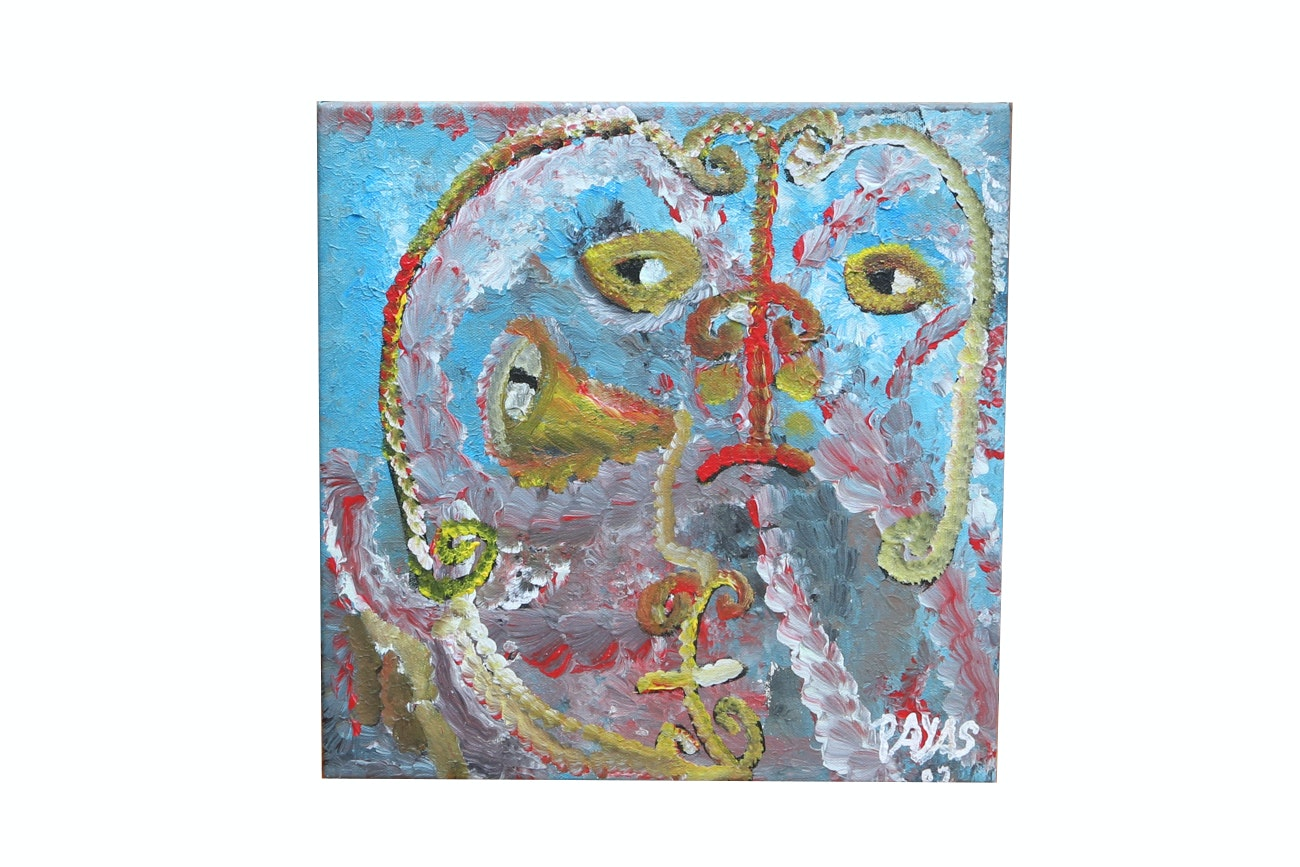 Payas (Pierre-Sylvain Augustin) Abstract Acrylic Painting On Canvas