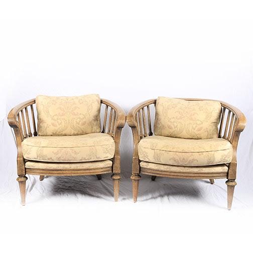 Vintage Barrel Back Arm Chairs