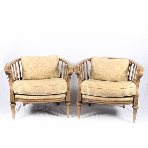 Vintage Barrel Back Arm Chairs ...