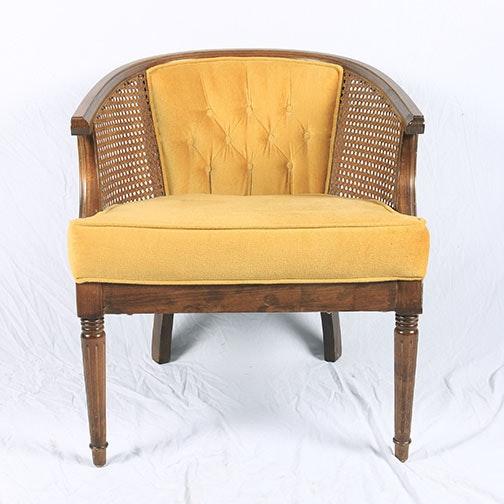 Vintage Barrel Back Arm Chair by Community Furniture