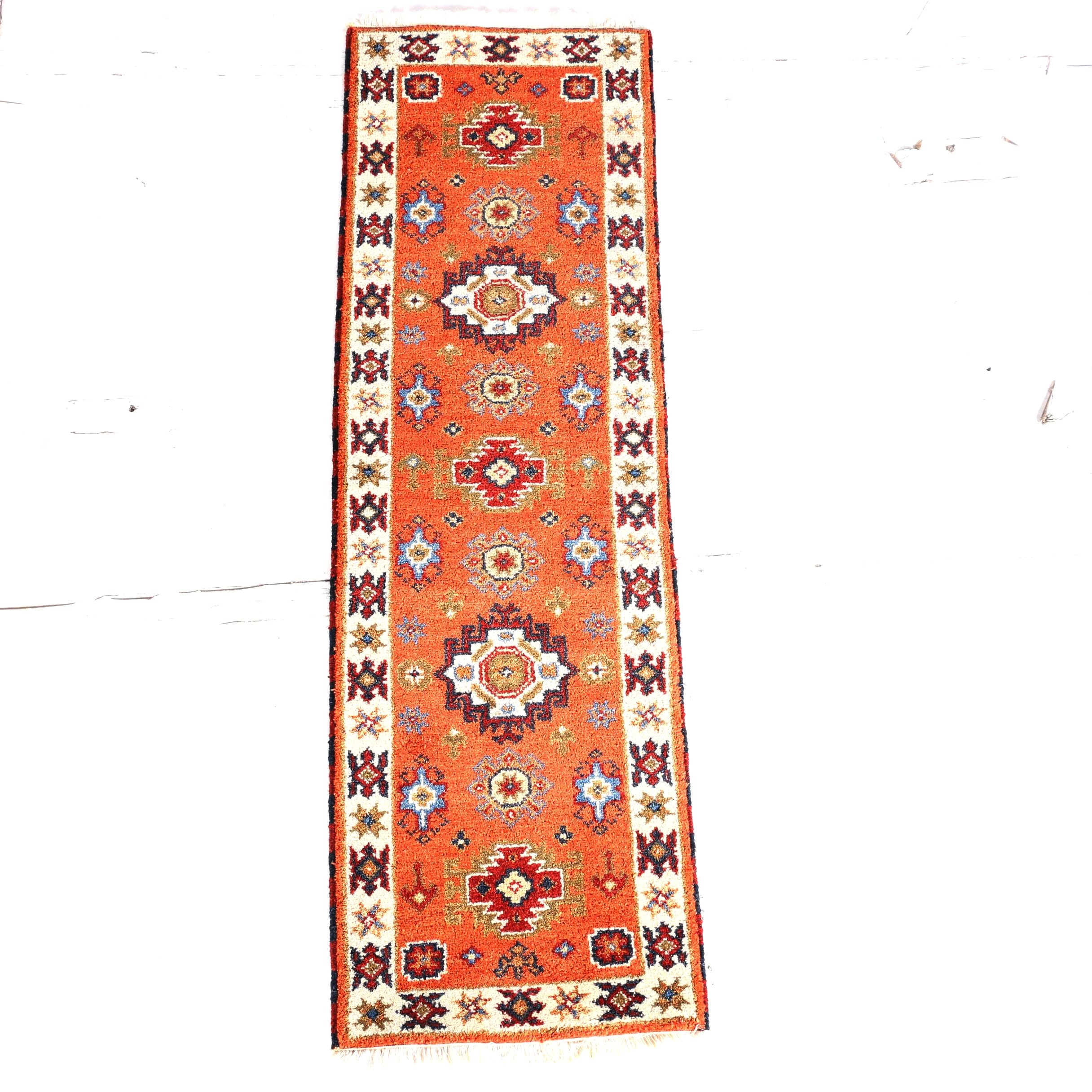 "hand-knotted marcella fine rugs ""oak platinum tribal"" runner : ebth"