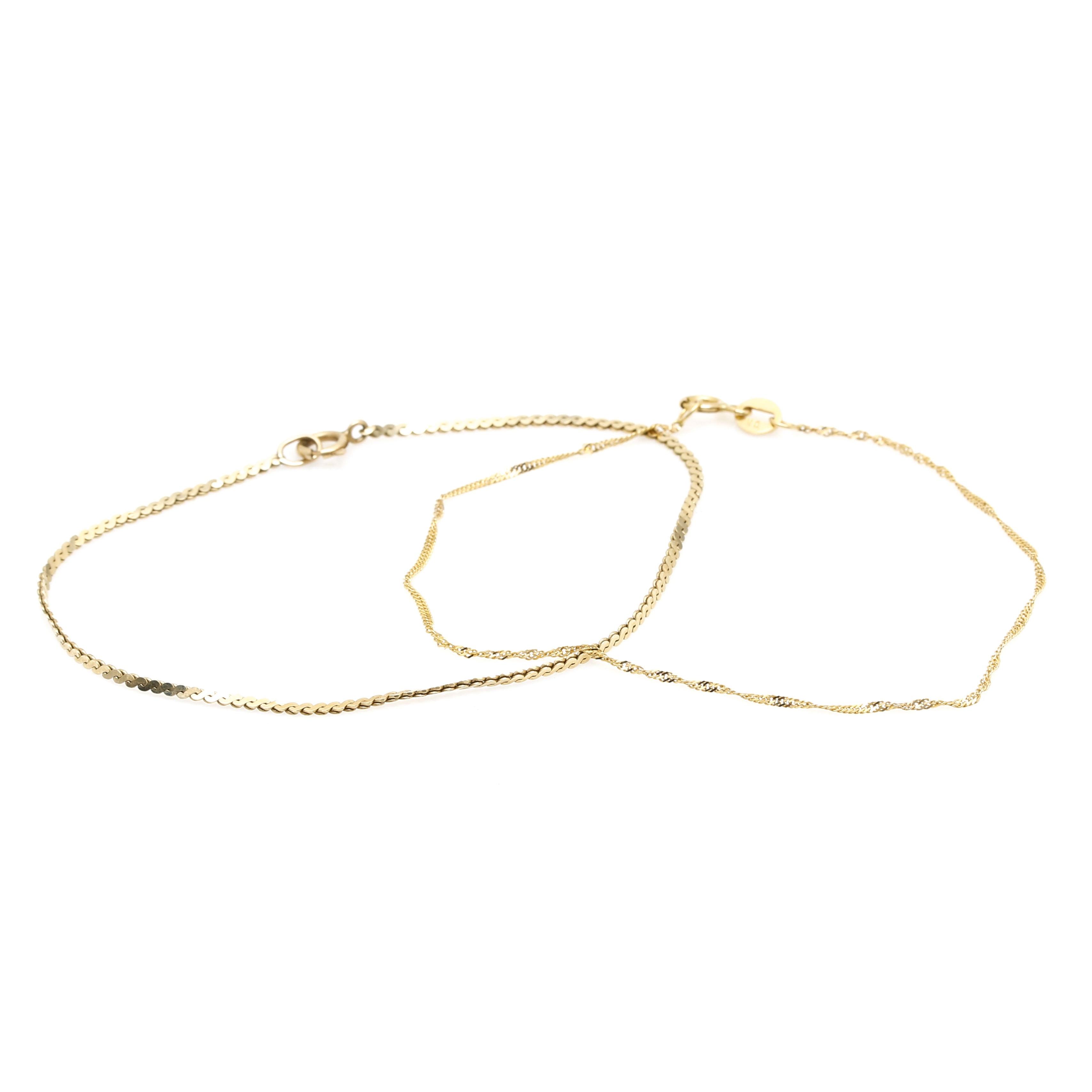 Pair of 14K Yellow Gold Bracelets