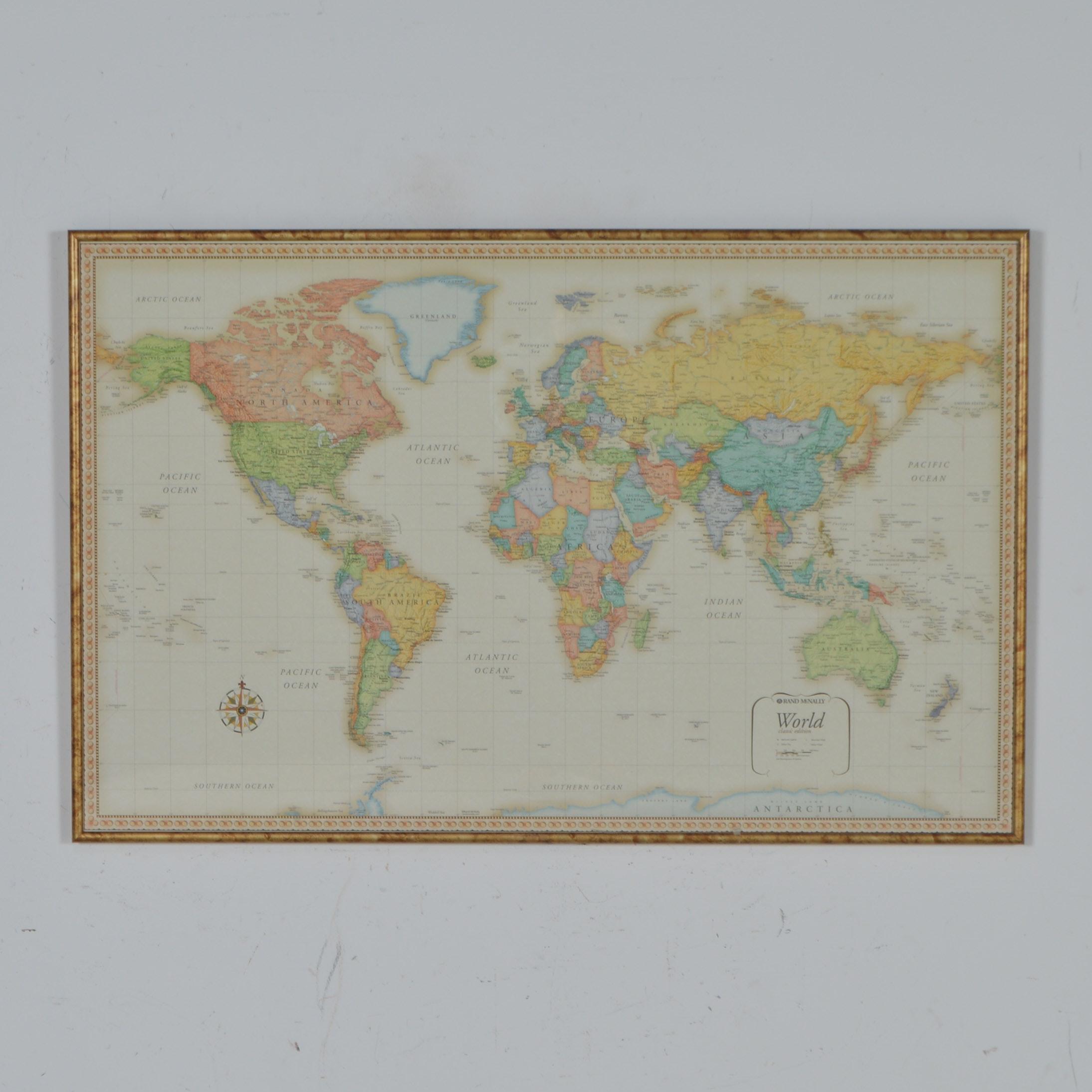Rand Mcnally Classic Edition World Map Ebth
