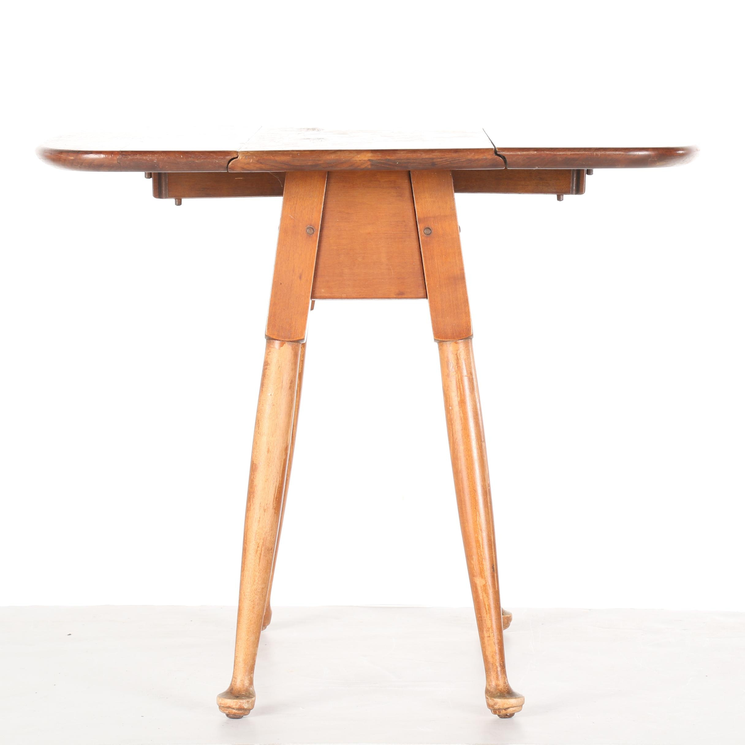 Vintage Miniature Queen Anne Style Drop-Leaf Table by Stickley