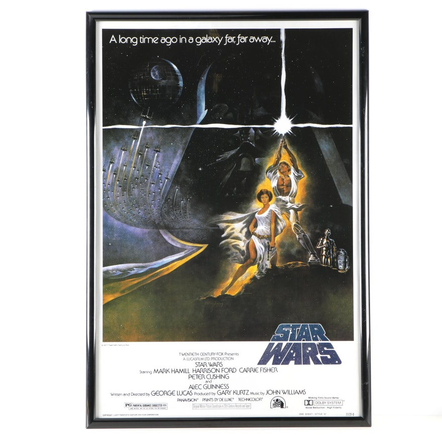 1977 Original Star Wars Framed Poster